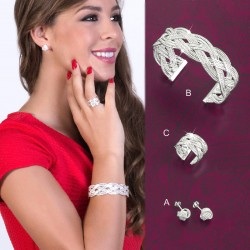 SET OREOL :: EARRINGS, BRACELET & RING