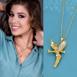 NECKLACE TAMI :: GOLD PLATED PENDANT WITH CHAIN